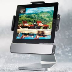 Rotating iPad Dock with Speakers - $100
