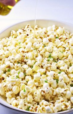 Jalapeno & Garlic Popcorn Recipe for National Popcorn Day FoodBlogs.com