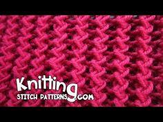Zig Zag Rib Stitch - Knitting and Crochet Rib Stitch Knitting, Loom Knitting Stitches, Stitch Crochet, Knitting Videos, Easy Knitting, Knitting Patterns Free, Stitch Patterns, Slip Stitch, Sewing For Beginners Clothes