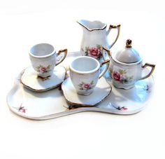 Vintage Miniature Porcelain Tea Set