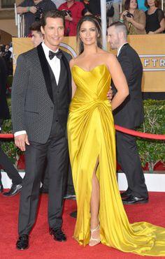 Matthew McConaughey and Camila Alves #SAGAwards #STYLAMERICAN