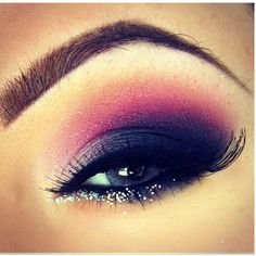 Evening #makeup black purple -brown eyes