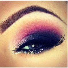 Evening #makeup black purple -brown eyes
