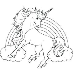 unicorn horse with rainbow for girls coloring pages printable and coloring book to print for free. Find more coloring pages online for kids and adults of unicorn horse with rainbow for girls coloring pages to print. Horse Coloring Pages, Unicorn Coloring Pages, Halloween Coloring Pages, Coloring Pages For Girls, Coloring Pages To Print, Free Printable Coloring Pages, Coloring For Kids, Coloring Sheets, Coloring Books