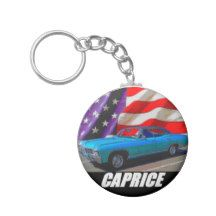 1967 Caprice 4 Door Hardtop Basic Round Button Keychain