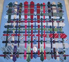 What a beauty! A tie quilt, why have I not thought about that before?
