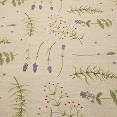 Buy John Lewis Herb Garden PVC Tablecloth Fabric, Green Online at johnlewis.com