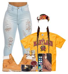 """MARYLAND College"" by obey-957 ❤ liked on Polyvore featuring Timberland, Michael Kors and Hermès"