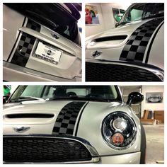 MINI Cooper Stripes | Black & Gray Checkered