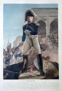 Louis Nicolas Davoust ou d'Avout (né le 10 mai 1770 à Annoux - mort à Paris le 1er juin 1823) - Maréchal d'Empire, le seul à n'avoir jamais été vaincu - gravé par Charon d'après Aubry et publié chez Jean - MAS Estampes Anciennes - Antique Prints