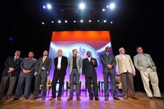 """SNY's """"All-Time Mets Team"""" in honor of the team's 50th anniversary. June 2012 photo (from left to right): Keith Hernandez, Edgardo Alfonzo, David Wright, Hank McGraw (son of Tug), Mark McGraw, Cleon Jones, Darryl Strawberry, Jerry Koosman and Tom Seaver. (Photo credit:  Andrew F. Johnston - June 17, 2012)"""
