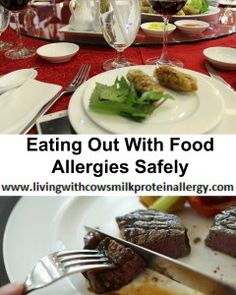 Eating Out With Food Allergies Safely By Living With Cow's Milk Protein Allergy