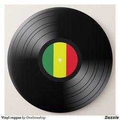 Vinyl reggae pinback button #button #oneloveshop #reggae #bobmarley #onelove