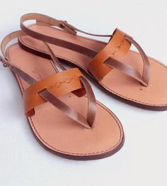 These all leather sandals are comfortable enough to wear out to the ball game and go out dancing after.