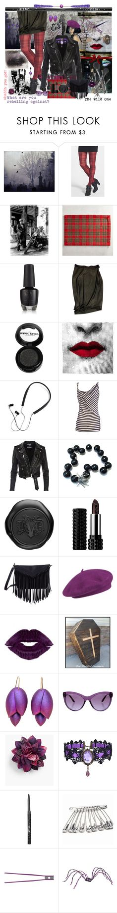 """""""The Wild One"""" by billiej-712 ❤ liked on Polyvore featuring Kat Von D, HUE, Pier 1 Imports, Vivienne Westwood, Manic Panic NYC, Fornasetti, Polaroid, Joe Fresh, Seeberger and Versace"""