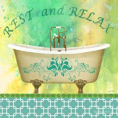 Rest And Relax Bath Art Painting