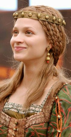 Beautiful Viking Hairstyle. Lena, Ring of the Nibelungs