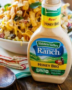 BBQ Ranch Pasta Salad with chicken and crunchy corn chips