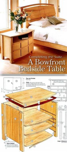 Bedside Table Plans - Furniture Plans and Projects   WoodArchivist.com