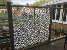 Fence made with pvc pipe rings my projects in 2019 садовые идеи, овощной ог Pvc Pipe Crafts, Pvc Pipe Projects, Door Gate Design, Fence Design, Pipe Fence, Garden Fencing, Back Gardens, Garden Furniture, Backyard Landscaping