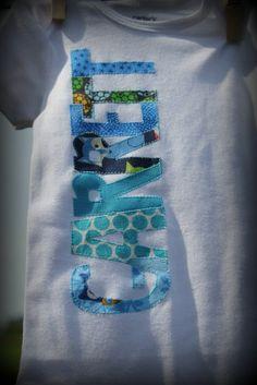 Personalized Baby Boy Onesies by thekraftytwins on Etsy, $12.00