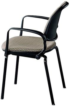"""Navigator 4-Leg Chair, Upholstered: Navigator Stack Chairs are elegant, low-density stacking chairs with outstanding """"flex"""" comfort at moderate prices. - Iowa Prison Industries"""