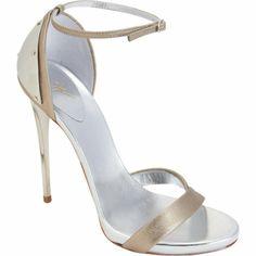 Giuseppe Zanotti Plated Heel Metallic Sandal at Barneys.com