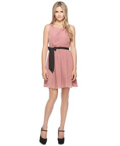 forever 21 pleated contrast dress (rose) $22.80