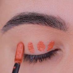 """Orange vibez by History of eye makeup """"Eye care"""", in other words, """"eye make-up"""" Makeup Eye Looks, Pretty Makeup, Love Makeup, Skin Makeup, Eyeshadow Makeup, Edgy Makeup, Orange Eye Makeup, Makeup For Brown Eyes, Makeup Looks Tutorial"""