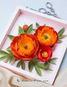 Paper Peonies, Paper Flowers, Diy Paper, Paper Crafts, Coral Charm Peony, Orange Paper, Flower Center, Create And Craft, How To Make Paper
