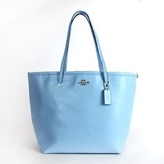 Coach Crossgrain Leather Large Coh Taxi Tote Pale Blue. #tote #fashion #handbag #beauty #purse #musthave