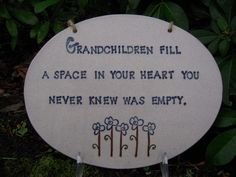 grandchildren | Grandchildren plaque $40 (price can vary with size) » Mud Pie Pottery