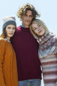Men's sweater for Novita, free pattern in Finnish and in Swedish at novitaknits.com