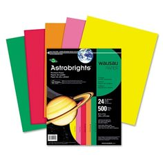 Wausau Astrobrights Assorted Cover Stock Paper - Art & Colored Copy $13.02