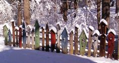 Birdhouse fence, love this! Taken from corgisinmygarden.blogspot.com