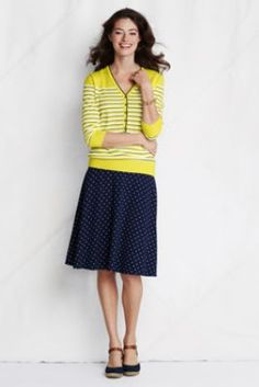 Women's Pattern Rayon Spandex Skirt from Lands' End-The most perfect skirt I have ever put on!