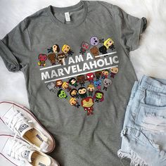 I am the Marvelholic shirt - Marvel Universe Moda Marvel, Marvel Avengers, Marvel Girls, Mode Outfits, Fashion Outfits, Marvel Fashion, Geek Fashion, Fashion Tips, Marvel Clothes