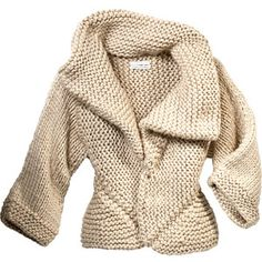 I am going to reverse engineer this LUTZ & PATMOS Handknit Mitered Cardigan...and save myself $595 in the process.