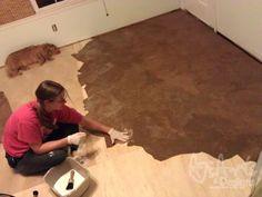 How to : Brown paper floor