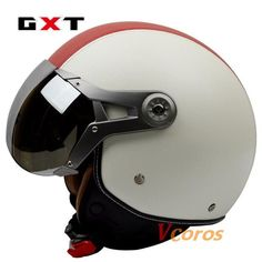 GXT New autumn & winter genuine leather vintage retro Harley motorcycle helmet capacete cascos air force open face moto helmet