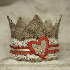 Valentine crown, photo prop, kid's crown, heart crown