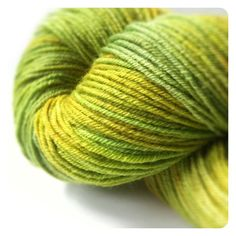 LIMEY Green Hand Painted Superwash Merino Wool Sock Yarn - Fingering Wt. by…