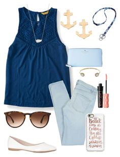 """""""I can't wait for warm weather"""" by zoejm ❤ liked on Polyvore featuring Aéropostale, Marc by Marc Jacobs, Jules Smith, Kate Spade, Kendra Scott, Ray-Ban, Casetify, Benefit, Vera Bradley and Juicy Couture"""