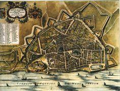 Blaeu Atlas: Nijmegen (old Roman place Novio Magus, 2000 years history ) ca 1662, Netherlands.