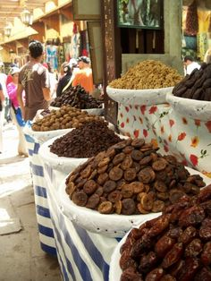 Fes, Morocco- Dried fruit in the old medina