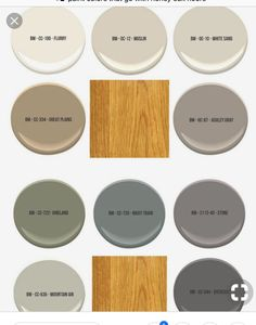 Benjamin Moore cool paint colors to pair with golden woodwork Cool wall colors to pair with golden oak Bathroom Paint Colors, Kitchen Paint Colors, Paint Colors For Living Room, Sherwin Williams Alabaster, Benjamin Moore, Honey Oak Trim, Honey Oak Cabinets, Kitchen Cabinets, Bathroom With Oak Cabinets