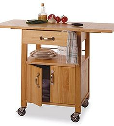 Small Space Solutions - Basics Kitchen Cart - Wayfair.com. We need one for our apartment !