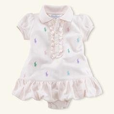 Too cute with the Polo emblem all over it in different colors!