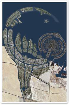 The Palm Islands (Atlantis), Dubai Palm Beach Dubai, Palm Island Dubai, Dubai Waterfront, Naher Osten, Dubai City, Dubai Uae, Stock Image, Dubai Travel, Aerial Photography
