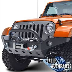 "Full Width Bumpers offers maximum protection and line up with the factory fender flares. Make: Jeep. Two-way adjustable tire mount for tire carrier. 2"" standard hitch receiver included in rear bumper."